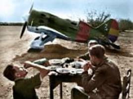 colour images of volunteers who fought franco in civil war