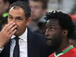 swansea boss: wilfried bony is back and is the main man