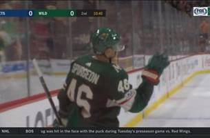 watch: jared spurgeon notches preseason goal for wild