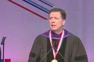 james comey speech shouted down by howard university student protesters (video)