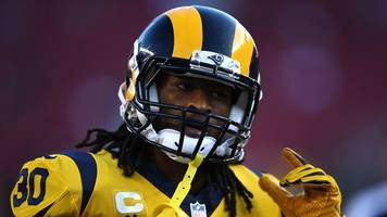 todd gurley of the la rams scores hat-trick to delight fantasy football players