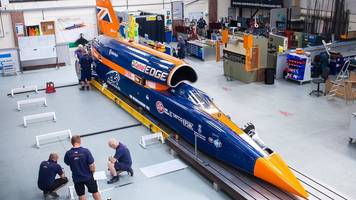 Bloodhound supersonic car visits island ahead of record attempt