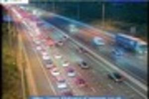 heavy traffic delays on the a12 from brentwood towards the m25