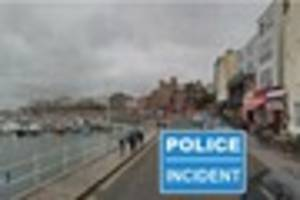 an area of ramsgate harbour was 'cordoned off after a police...