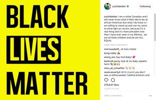 """justin bieber pens the realest words he ever wrote: """"i'm a white canadian & i'll never know what it feels like to be an african american but…"""""""