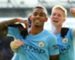 man city team news: gabriel jesus drops to bench for crystal palace clash