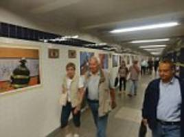 art in world trade center subway for 9/11 ripped down