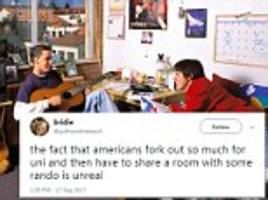 British students are shocked Americans share dorm rooms
