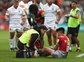 Harlequins 28-31 Leicester Tigers: Marcus Smith injured