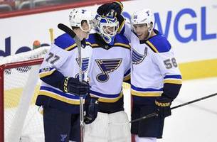 husso, thomas shine as blues earn 4-0 preseason win over capitals