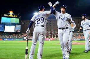rays early offensive start propels them to win over orioles