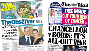 Newspaper headlines: Cabinet 'all-out war' over Brexit