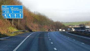 m3 closed at winchester due to police 'incident'