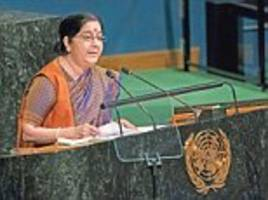 Sushma Swaraj takes on Pakistan at the UN General Assembly