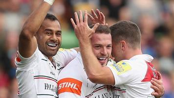 ford kicks leicester to victory at quins