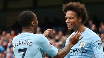 Man City put five past pointless Crystal Palace