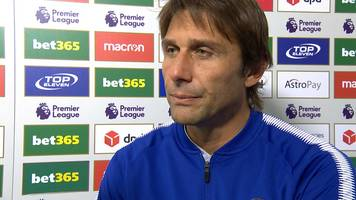 Stoke 0-4 Chelsea: Antonio Conte satisfied with 'difficult' win