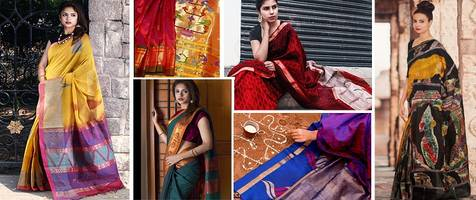 6 stunning handloom saree looks for this festive season which will make you a style icon and bring hope to the declining weavers