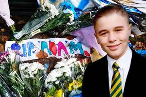 derby county fans applaud tragic youngster adam johnson, 12, during birmingham city game