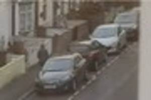 A man was caught on camera 'trying to break into nearly every...
