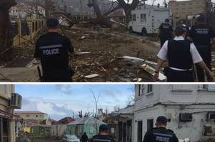 New photos show Surrey Police officers doing all they can in Hurricane Irma recovery