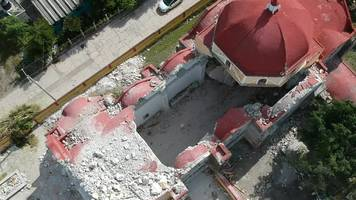 Mexico earthquake hit church during christening