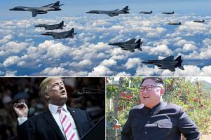 Donald Trump sends bombers to North Korean border as America vows to 'protect the homeland'