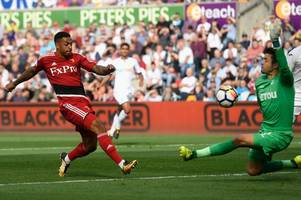 the swansea city player ratings as leroy fer and tom carroll endure a nightmare and jordan ayew provides a rare bright spark
