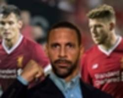 ferdinand: half of liverpool's back four isn't good enough