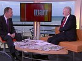 corbyn mocked for flannelling during conference interview