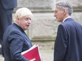 chancellor and boris in all-out brexit war