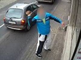 instant karma for vandal caught smashing a shop window