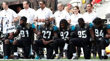 nfl: baltimore ravens & jacksonville jaguars protest during us national anthem