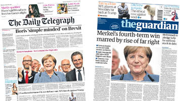 newspaper headlines: brexit battle and germany election
