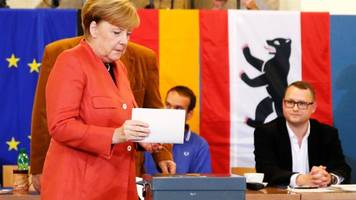 With German Polls Closing Merkel Looks To Historic 4th Term In Office; Far-Right Party Set To Enter Bundestag