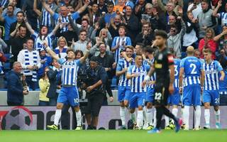 hughton satisfied with start after hemed sinks newcastle