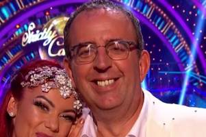 'this years ed balls only funnier' rev richard coles struts his stuff in strictly