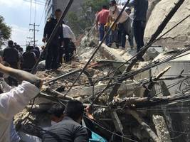 Aftershock rattles Mexico as search for survivors continues