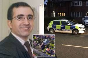 doctor stabbed in the neck from behind outside mosque as he arrived for evening prayers