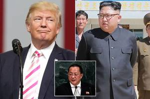 Donald Trump continues to threaten North Korea sending late-night tweet warning Foreign Minister 'won't be around much longer'