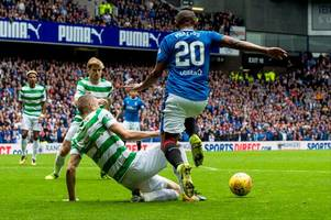 rangers should've had a penalty for foul on alfredo morelos but pedro caixinha's elbow claim is rubbish - derby day referee watch