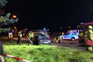 trapped driver in his 60s freed after two-car smash near mcdonald's