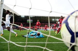 swansea city's jekyll and hyde performance offers a few glimmers of hope for angry paul clement