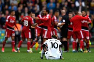swansea city are making history for all the wrong reasons as paul clement explodes on the touchline