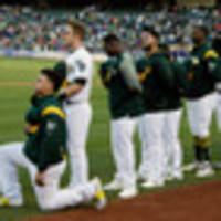 Baseball: Oakland Athletics Bruce Maxwell first MLB player to kneel during anthem