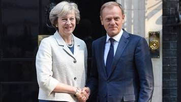 UK PM to meet Donald Tusk for Brexit talks