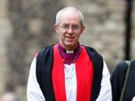 justin welby conducts wedding of his divorced aide
