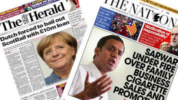 scotland's papers: dutch 'bail out' scotrail