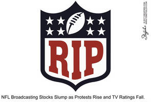 sunday night football ratings slide following day of player protests