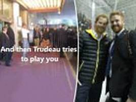 pm trudeau fools fans with prince harry doppelganger